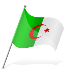 flag of Algerian vector illustration