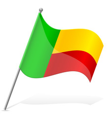 flag of Benin vector illustration