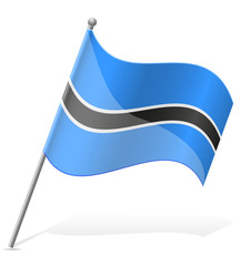 flag of Botswana vector illustration