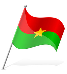 flag of Burkina Faso vector illustration