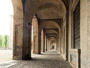 Palazzo della Pillotta housing the Farnese theater and the natio