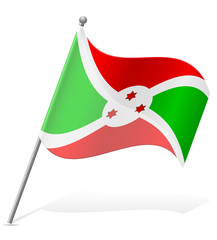 flag of Burundi vector illustration