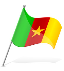flag of Cameroon vector illustration