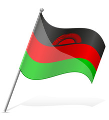 flag of Malawi vector illustration