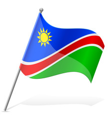 flag of Namibia vector illustration