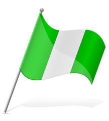 flag of Nigeria vector illustration
