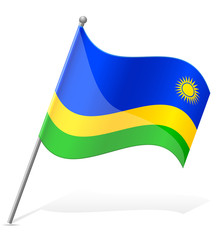 flag of Rwanda vector illustration