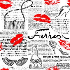 Newspaper pattern Fashion