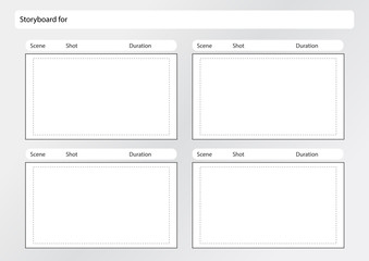 storyboard template x4