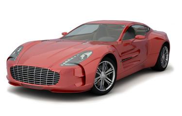 Roter Sportwagen, unbeschädigt
