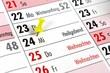 canvas print picture - Planung Weihnachten Kalender