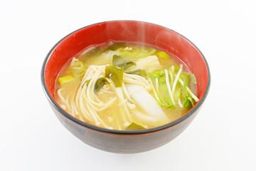 エノキ茸のお味噌汁