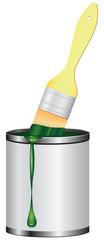 Brush jar paint