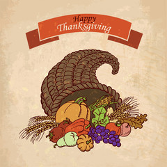 Vector background Thanksgiving Day. Greeting Card
