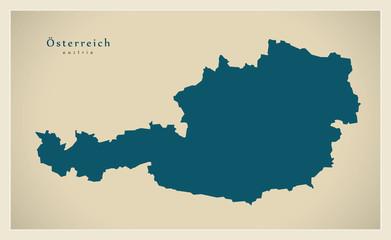 Moderne Landkarte - Österreich AT