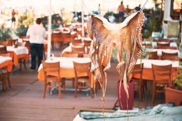 Octopus drying