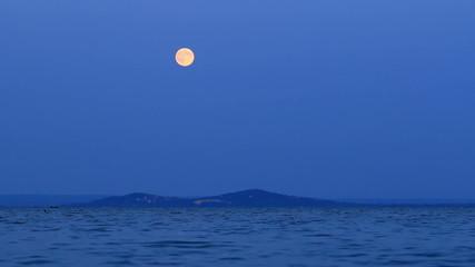 Dark evening  with full moon