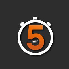 chronomètre 5 minutes