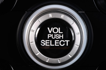black knob of volume