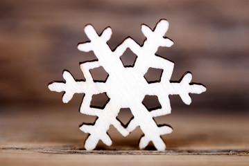 Snowflake on Wood III