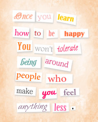 Anonymous style quote about happiness