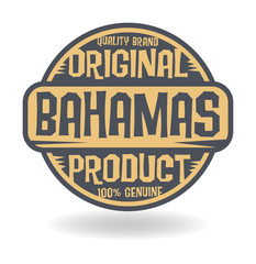 Abstract stamp with text Original Product of Bahamas