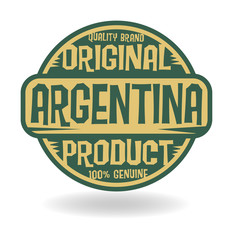 Abstract stamp with text Original Product of Argentina