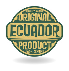 Abstract stamp with text Original Product of Ecuador