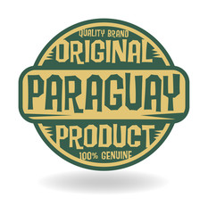 Abstract stamp with text Original Product of Paraguay