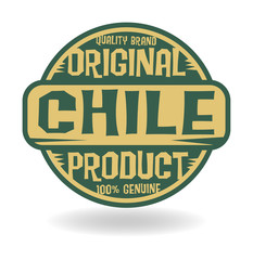 Abstract stamp with text Original Product of Chile