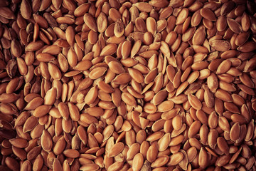 Healthy diet. Flax seeds linseed as natural food background