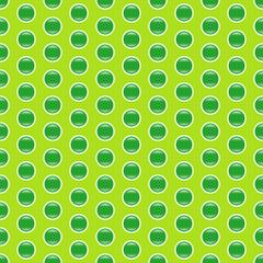 Grünes, glänzendes Pünktchenmuster nahtlos wiederholbar