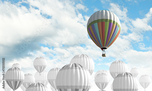 canvas print picture Aerostats in sky