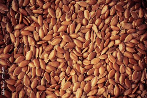 Aluminium Granen Healthy diet. Flax seeds linseed as natural food background