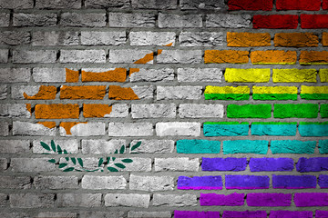 Dark brick wall - LGBT rights - Cyprus