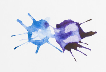 Abstract  watercolor blob - Stock Image macro.