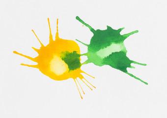 Abstract  watercolor blob - Stock Image macro.