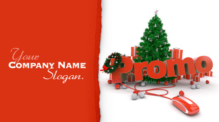 Christmas promo customizable