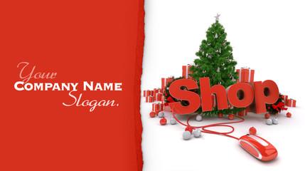 Christmas shop customizable