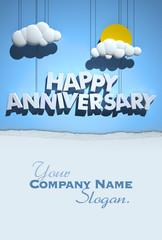 Happy Anniversary day custom