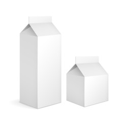 blank milk carton packages
