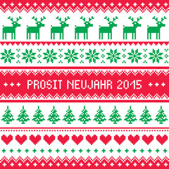 Prosit Neujahr 2015 - Happy New Year in German pattern