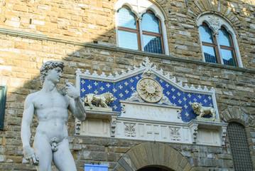 Statua David di Michelangelo, monumento, Firenze