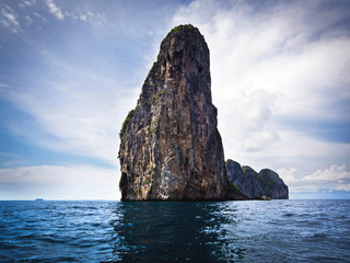 Karst Scenery in Ko Phi Phi, Krabi Province, Thailand
