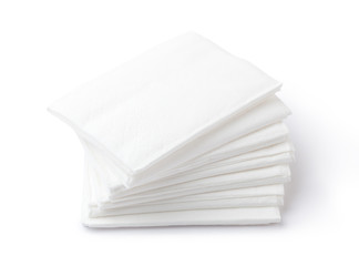 Paper napkins isolated on white background