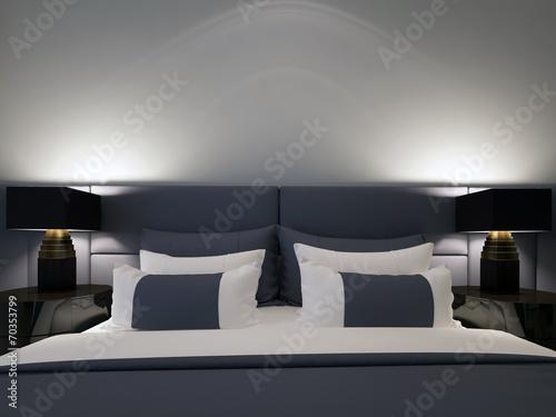 modern double bedroom - 70353799