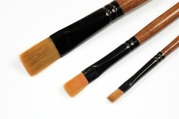 three brushes
