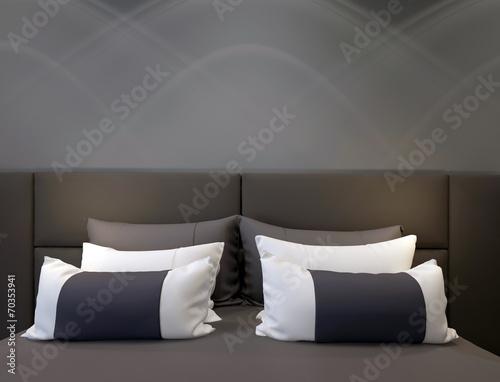 modern double bedroom - 70353941
