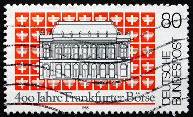 Postage stamp Germany 1985 Frankfurt Stock Exchange