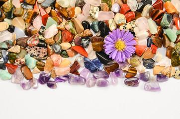 Amethyst Mineral Heilsteine und Blüte